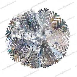 Decoratiune 3D Fulg Argintiu Holografic