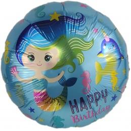 Balon rotund Mermaid Party...