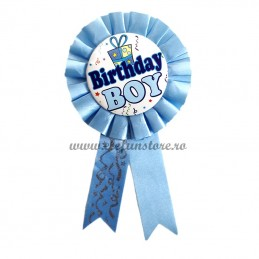 Insigna bleu BIRTHDAY BOY-Model Cadou