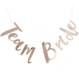Banner Team Bride Rose Gold