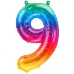 Balon Cifra 9 Jelly Rainbow...