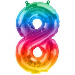 Balon Cifra 8 Jelly Rainbow...