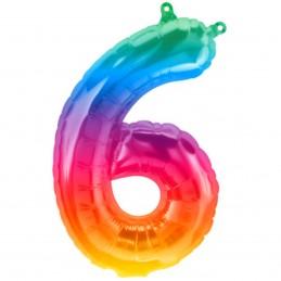 Balon Cifra 6 Jelly Rainbow...