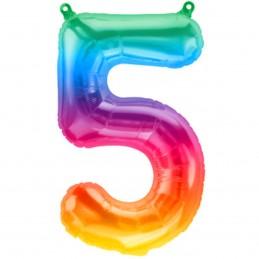 Balon Cifra 5 Jelly Rainbow...