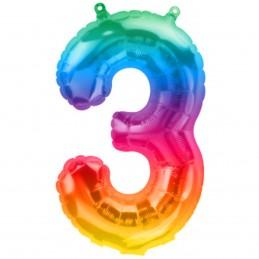 Balon Cifra 3 Jelly Rainbow...