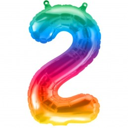 Balon Cifra 2 Jelly Rainbow...