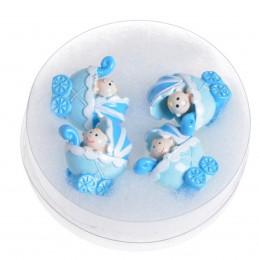Set 4 carucioare bleu 3D...