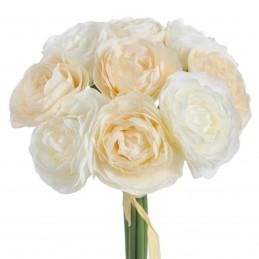 Ranunculus alb si crem, 9...