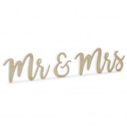 Inscriptie MR&MRS din lemn...
