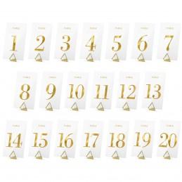 Numere pt masa 1-20 aurii...