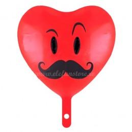 Balon Inima Moustache