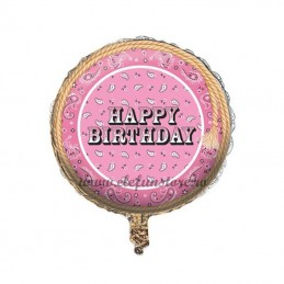 Balon Happy Birthday Pink