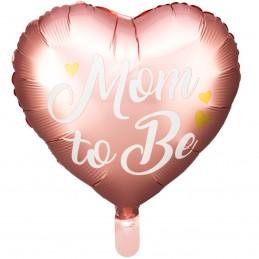 Balon inima roz MOM TO BE