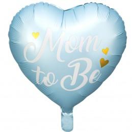 Balon inima bleu MOM TO BE