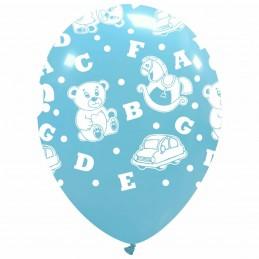 Set 10 baloane Bleu cu Jucarii