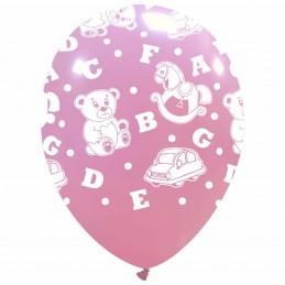 Set 10 baloane roz cu Jucarii
