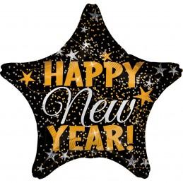 Balon stea neagra HAPPY NEW...