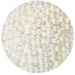 Perle albe si crem 1cm cu...