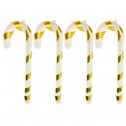 Set 4 ornamente candy cane...