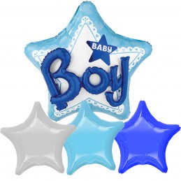 Kit 4 Baloane Stea BABY BOY...