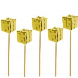 Set 5 ornamente cadou auriu...