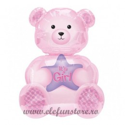 "Balon Ursulet""Girl"" Roz 80cm"