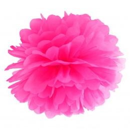 Floare Pom Pom Magenta 25 cm