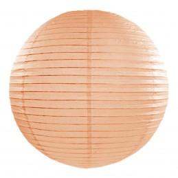 Lampion rotund peach 25 cm