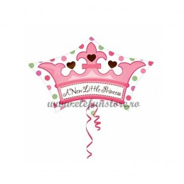 "Balon Mini Figurina Coroana ""A New Little Princess"""