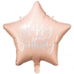 Balon stea roz HAPPY...
