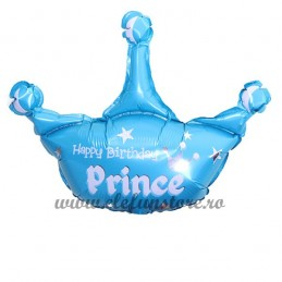 Balon  Coroana Happy Birthday Prince 80x100cm