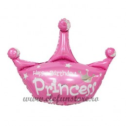 Balon  Coroana Happy Birthday Princess 80x100cm
