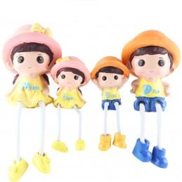 Set 4 figurine familie cu 2...