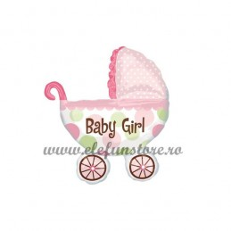 "Balon Mini Carucior ""Baby Girl"""
