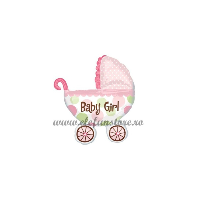 "Balon Mini Carucior ""Baby Girl"""
