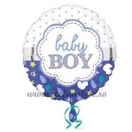 Balon Rotund Baby Boy 45cm