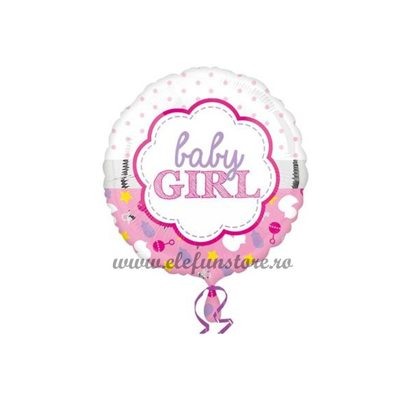 Balon Rotund Baby Girl 45cm
