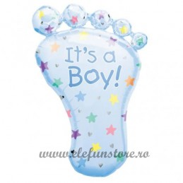 "Balon Figurina Piciorus ""It's a boy"" Blue"