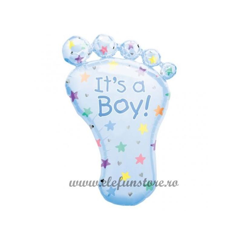 "Balon Figurina Piciorus ""It's a boy"" Blue"