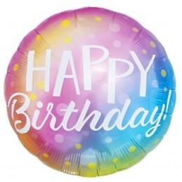 Balon rotund Happy Birthday...