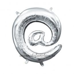 Balon Simbol @ Argintiu 40 cm