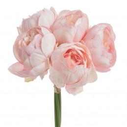 Buchet bujori roz 5 fire 25cm