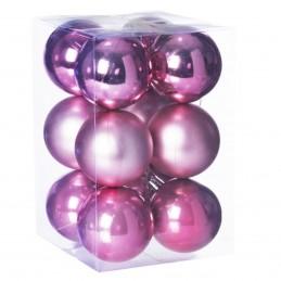 Set 12 globuri roz...