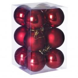Set 12 globuri rosii...