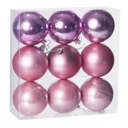 Set 9 globuri roz asortate,...