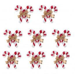 Set 8 ornamente candy cane...