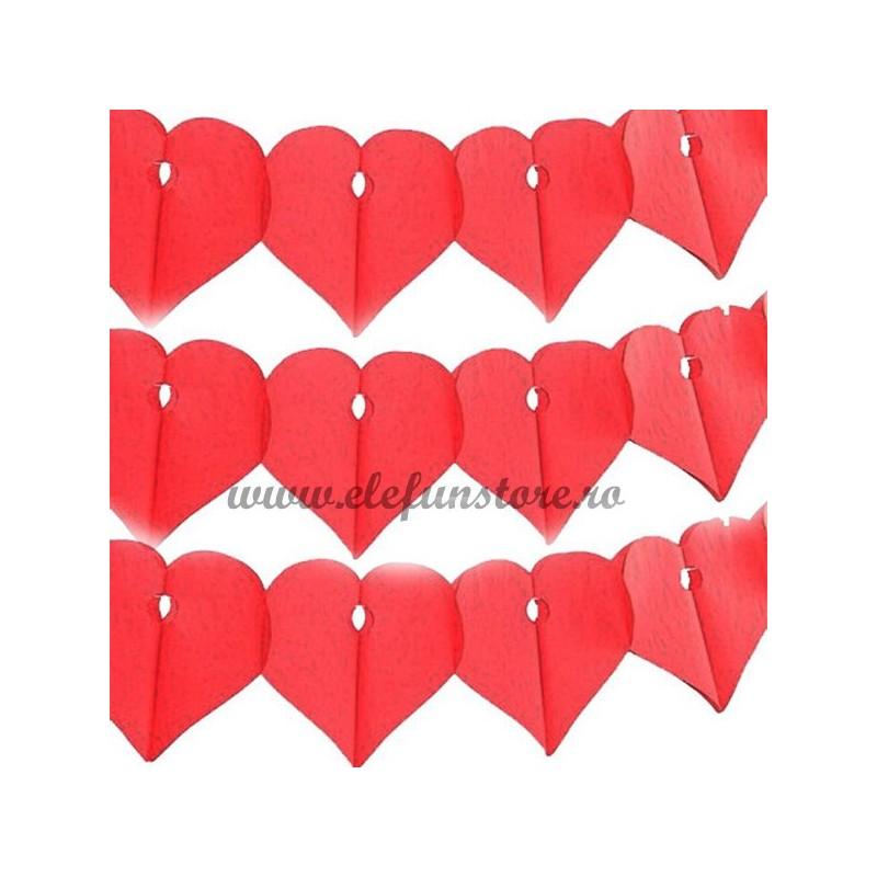 Ghirlanda cu inimioare rosii 3m