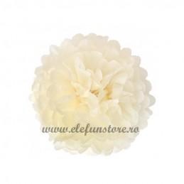 Floare Pom Pom Ivoire 25 cm