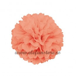 Floare Pom Pom Piersica 30 cm