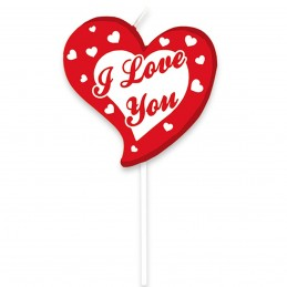 Lumanare Inima I LOVE YOU 10cm